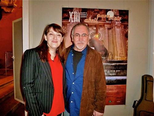 Mª José Hernández y Juan Antonio Muriel en el Festival Abril para Vivir 2014. © Mª Gracia Correa