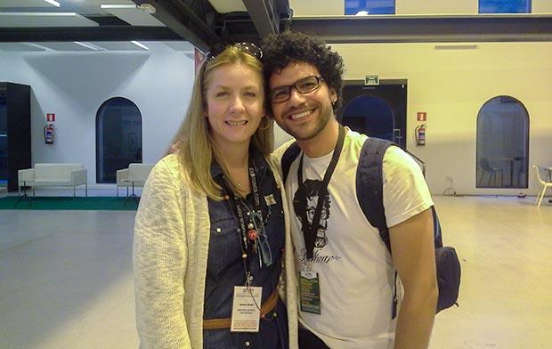 Adriana Pedret, director del EXIB Müsica con José Alejandro Delgado. © Xavier Pintanel