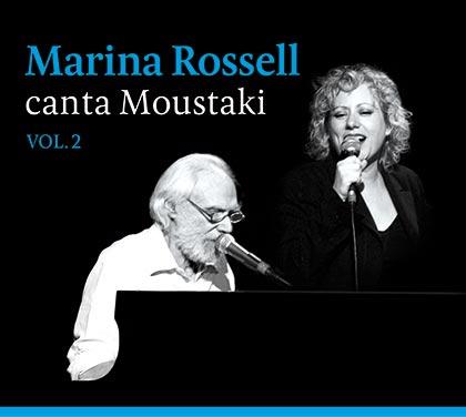 Portada del disco «Marina Rossell canta Moustaki vol.2» de Marina Rossell.