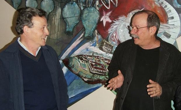 Fernando González Lucini y Silvio Rodríguez.