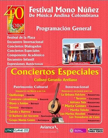 40 Festival Mono Núñez de Música Andina Colombiana