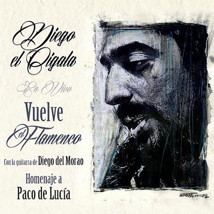 Portada del disco «Vuelve el flamenco» de Diego El Cigala.