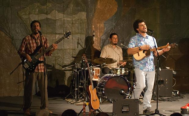 De izquierda a derecha: Dionisio López, Pancho Montañez y José Alejandro Delgado. © Xavier Pintanel