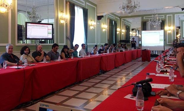 Asamblea general de Salas de conciertos en el Carmen de los Mártires en Granada. © ACCES