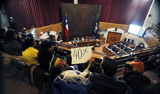 Florcita motuda en el Senado chileno. © Agencia UNO