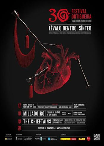 Cartel del 30 Festival Ortigueira (Galicia) 2014