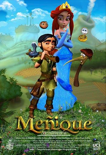 Cartel de la película «Meñique» de Ernesto Padrón.