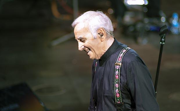 Charles Aznavour en el Gran Teatre del Liceu de Barcelona. © Xavier Pintanel