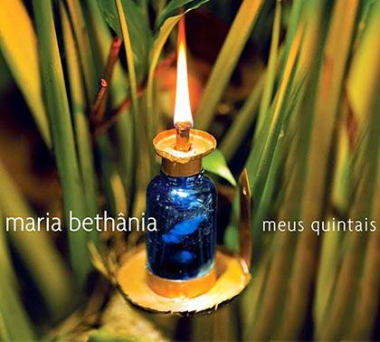 Portada del disco «Meus quintais» de Maria Bethania.