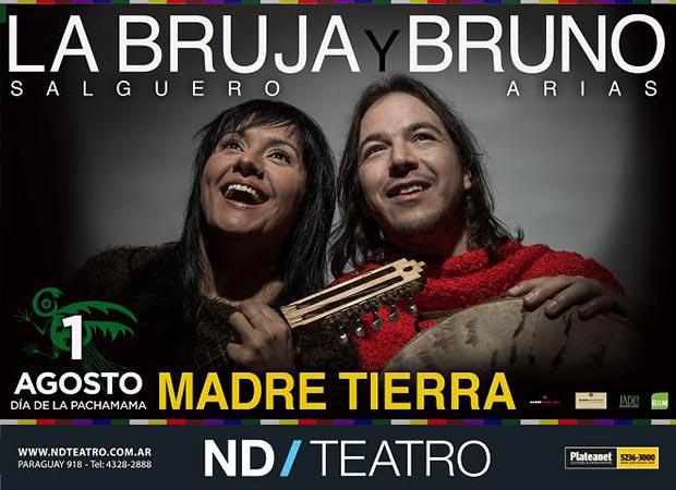 La Bruja Salguero y Bruno Arias presentan «Madre Tierra».