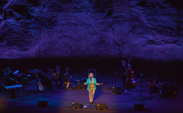 Marina Rossell en el Teatre Grec de Barcelona. © Xavier Pintanel