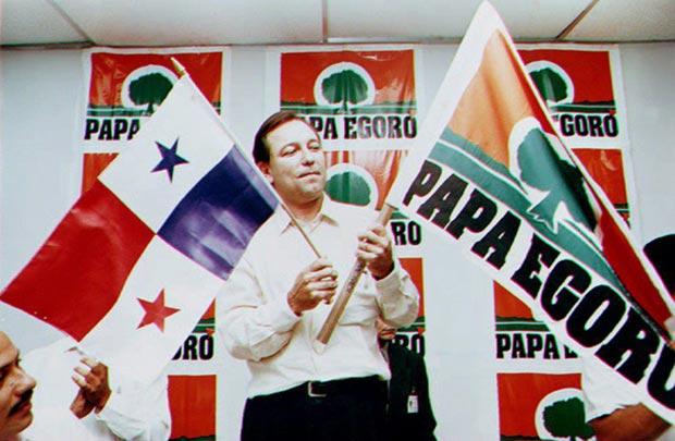 Rubén Blades fue candidato presidencial en 1994 encabezando el partido Papa Egoró («Madre Tierra»). © AFP