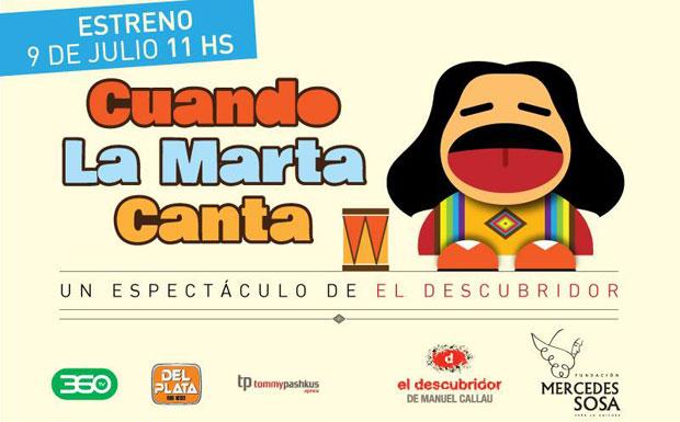 «Cuando la Marta canta», la infancia de Mercedes Sosa a escena.