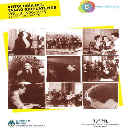 Portada del disco «Antología del tango rioplatense (1920-1935) Vol II».