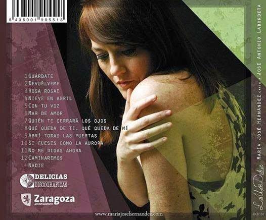 Contraportada del disco «Las uvas dulces» de María José Hernández.