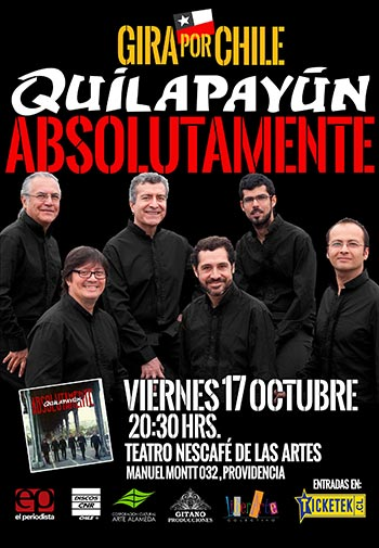 Quilapayún – Parada/Wang regresa a Chile en octubre.