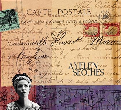 Portada del disco «Carte postale» de Ayelén Secches.