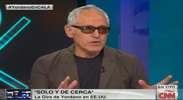 Yordano Di Marzo durante la entrevista con Ismael Cala en CNN.