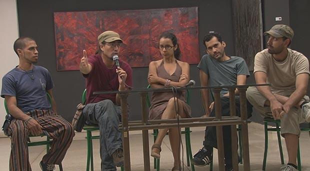 El director de «Canción de Barrio» Alejandro Ramírez Anderson junto con Mónica Rivero en la presentación a la prensa del martes.