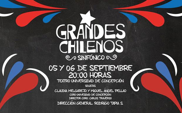 «Grandes Chilenos Sinfónico» en Concepción