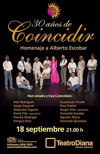 La trova mexicana homenaje a Alberto Escobar en el 30 aniversario de «Coincidir».
