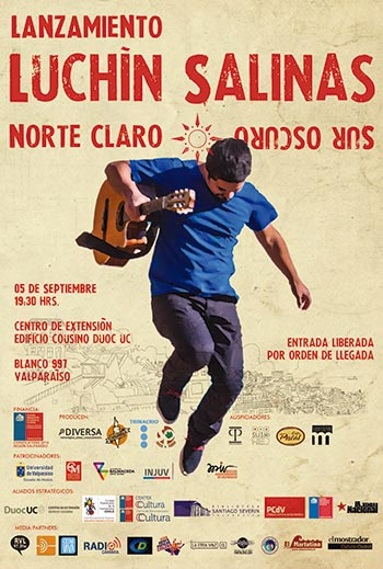 Luchín Salinas lanza «Norte claro, sur oscuro», su disco debut