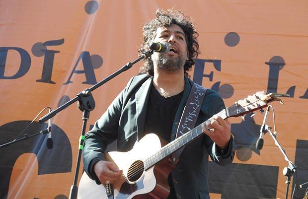 Manuel García en la edición del año pasado del Día de la Música Chilena.