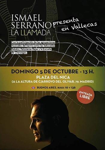 Ismael Serrano presenta «La llamada» con un concierto gratuito en Vallecas.