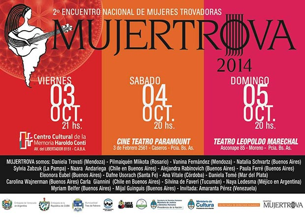 II Encuentro nacional de mujeres trovadoras MujerTrova 2014.