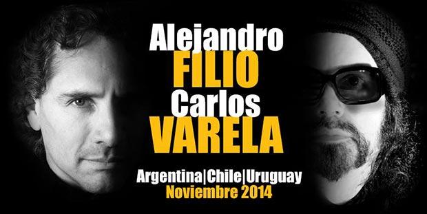 Filio y Varela juntos en Argentina, Chile y Uruguay. Gira por el Sur.