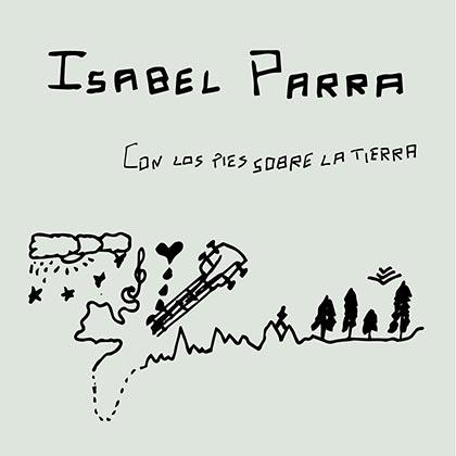 Portada del disco «Con los pies sobre la tierra» de Isabel Parra.