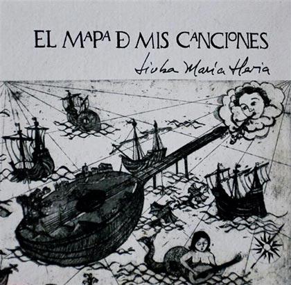 Portada del disco «El mapa de mis canciones» de Liuba María Hevia.