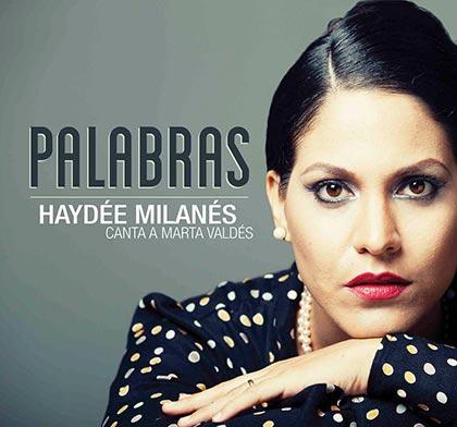 Portada del disco «Palabras, Haydée Milanés canta a Marta Valdés» de Haydée Milanés.