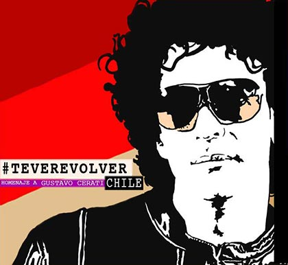 Portada del disco «Te veré volver», un homenaje de artistas chilenos a Gustavo Cerati.