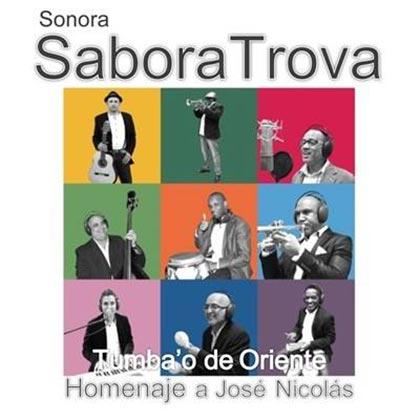 Portada del disco «Tumba'o de Oriente» de la Sonora SaboraTrova.