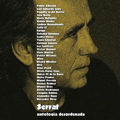 Portada del disco «Antología desordenada» de Joan Manuel Serrat.
