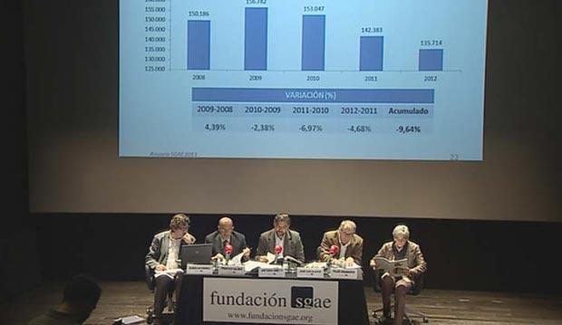 Rueda de prensa de presentación del Anuario 2014 celebrada en Madrid.