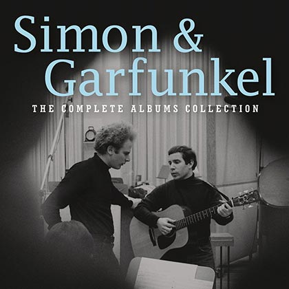 Portada de la caja «The complete albums collection» de Simon and Garfunkel.