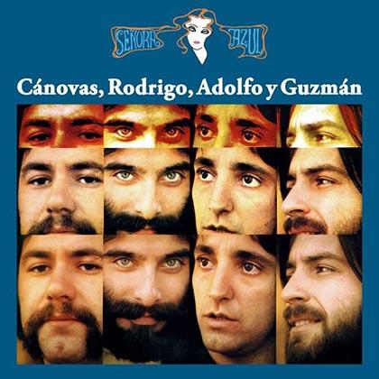 Portada del disco «Señora Azul» de Cánovas, Rodrigo, Adolfo y Guzmán.