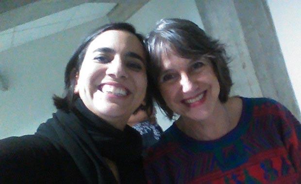 Una curiosa «selfie» con Marta Gómez y Cecilia Todd. © Facebook Marta Gómez