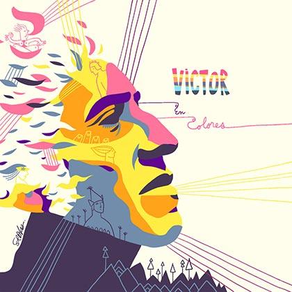 Portada del disco «Víctor en colores».