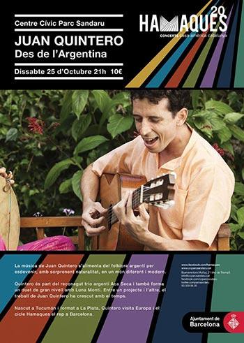 Juan Quintero en el marco del ciclo Hamaques de música popular y tradicional latinoamericana que programa Casa Amèrica Catalunya.