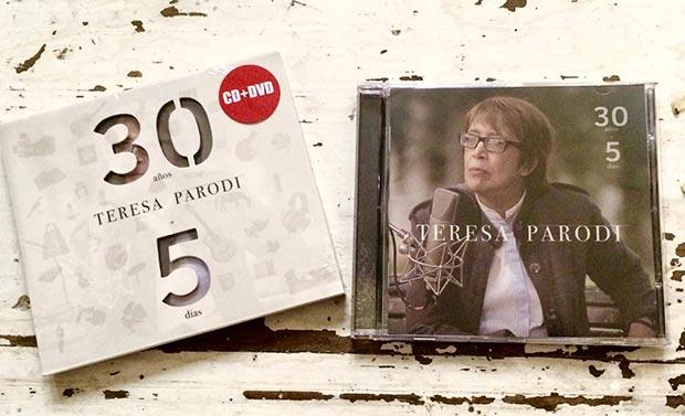 Disco «30 años   5 días» de Teresa Parodi.