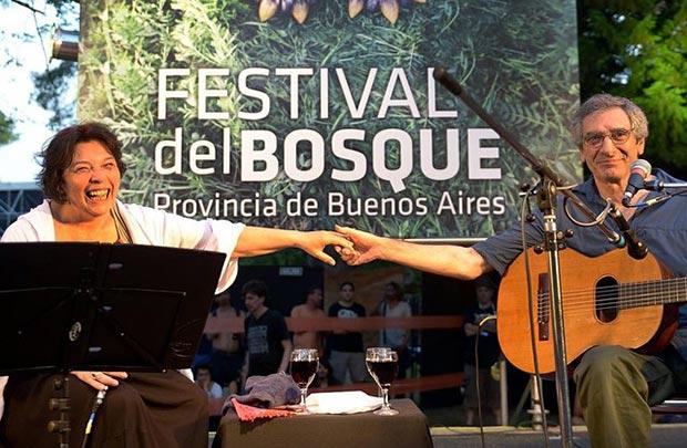 Liliana Herrero y Juan Falú en el Festival del Bosque. © FIFBA