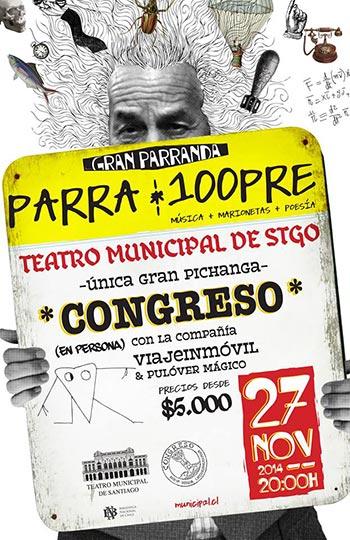 Concierto «Parra 100pre» de Congreso.