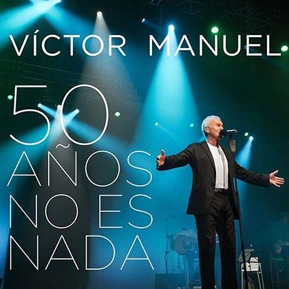 Portada del disco «50 años no es nada» de Víctor Manuel.