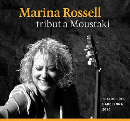 Portada del disco «Tribut a Moustaki» de Marina Rossell.