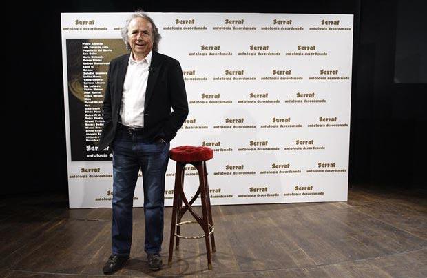 Joan Manuel Serrat en la presentación de «Antología desordenada». © EP