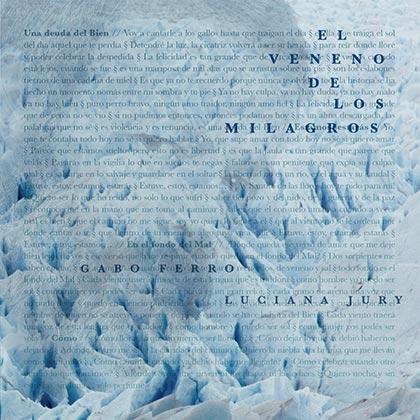 Portada del disco «El veneno de los milagros» de Gabo Ferro y Luciana Jury.