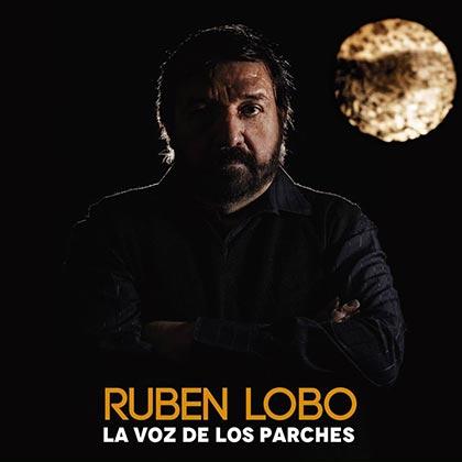 Portada del disco «La voz de los parches» de Rubén Lobo.